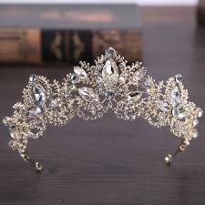 <b>2018 New Fashion</b> Baroque <b>Luxury</b> Crystal AB Bridal Crown Tiaras ...