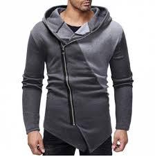 Men's Fashion <b>Diagonal Zip Stitching</b> Design <b>Hoodies</b> | Kleidung ...