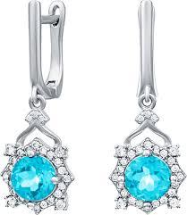 Серебряные <b>серьги Silver Wings 22KNYS1356-155-swiss-blue</b> c ...