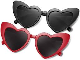 Heart Shaped Sunglasses for Women Girls Ladies ... - Amazon.com