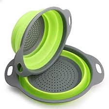 <b>Collapsible Colander</b> - NEWYANG <b>2 Pcs</b> Kitchen <b>Foldable Silicone</b> ...
