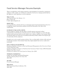 resume food service director equations solver cover letter resume food service exle for