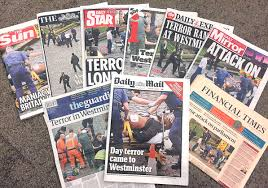 the script we all follow after a terror attack vice the front covers of today s newspapers
