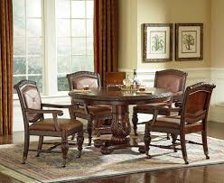 Formal Round Dining Room Sets Round Dining Room 72 Round Brown Mahogany Formal Dining Room