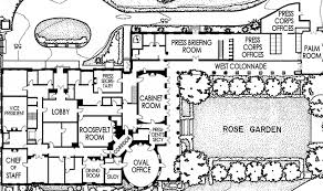 West Wing   White House MuseumOfficial first floor plan in  White House