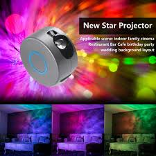 <b>Laser Galaxy Starry Sky</b> Projector Rotating Water Waving Night ...