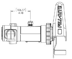 model fr4211gl 12 v dc high flow pump fill rite mdi dimensions for model fr4204g pumps from fill rite