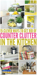 dishy kitchen counter decorating ideas:  clever ways to get rid of kitchen counter clutter stand for love the and trays