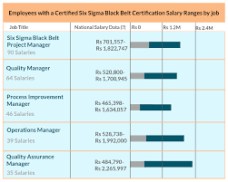 career opportunities for six sigma black belt   six sigma black beltit also helps the professionals to get promotion  please below the salary package levels for six sigma black belts