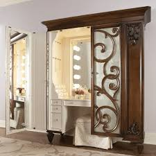 artistic bulb materials lighted vanity mirror with solid brown wood materials mirror frame types also best lighting for makeup vanity