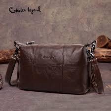 Cobbler Legend Hobo <b>Women Bag</b> Female Ladies' <b>Genuine</b> ...