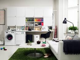 stunning laundry room organization ideas for a limited space magnificent white cabinets and sofa bed awesome trendy office room space decor magnificent