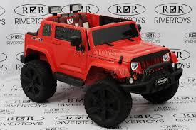 Детский <b>электромобиль</b> River Toys Jeep Wrangler O999OO 4*4 ...