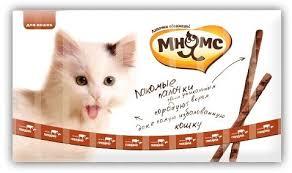 <b>Мнямс лакомые палочки</b> для кошек с <b>говядиной</b> и печенью