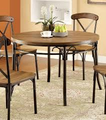 Industrial Style Kitchen Table Furniture Of America Cm3827rt Crosby Industrial Style Bronze Metal