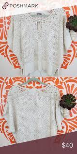 <b>Rosie</b> Neira Creme <b>Boho</b> Crochet Blouse OS Anthropologie <b>Rosie</b> ...