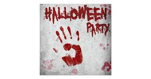 <b>Bloody Handprint Halloween</b> Invitation | Zazzle.com