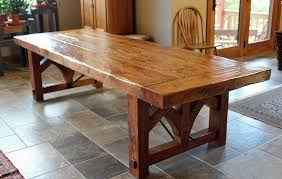 long wood dining table: make your own long rustic reclaimed wood dining table diy solid brown rectangle reclaimed wood