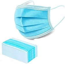 ROKE Disposable Face Mask (blue-50pcs) 3-layer ... - Amazon.com