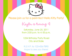 Hello Kitty Party Invitation Wording - Invitation Templates