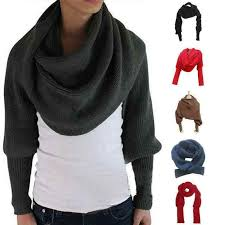 <b>New Novelty Unisex</b> Women Knitted Scarf With Sleeves Long For ...