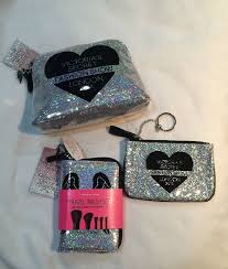 victoria 39 s secret fashion show 2016 3 pc set big small makeup bags brush set