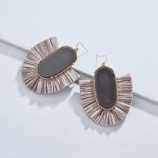 2018 Ethnic Bohemia Women Dangle Drop <b>Earrings Fanshaped</b> ...