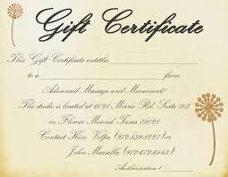 best photos of massage gift certificate template printable printable massage gift certificate template