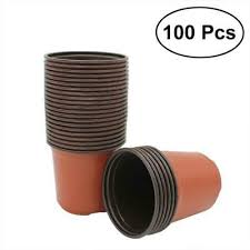 <b>100pcs Pot Plastic Nursery</b> Seedlings Flower <b>Plant</b> Container ...