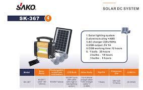Hot Sale <b>Mini 6W Portable</b> DC Solar Lighting System Stand Alone Kit