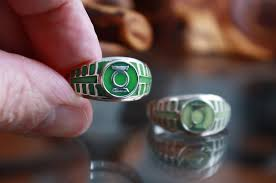 Green Lantern Glow in the Dark Ring / Sterling <b>Silver 925 Ring</b> ...