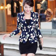 Autumn Floral <b>Jacket Women</b> Blazers And <b>Jackets</b> Plus Size <b>Spring</b> ...