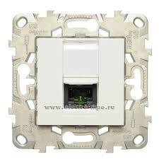 Р3251. Механизм Unica New <b>NU541118</b> компьют. <b>розетки</b> UTP 1 ...