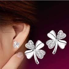 <b>TJP</b> Pure 925 Sterling Silver Earrings For Women Jewelry <b>Charm</b> ...