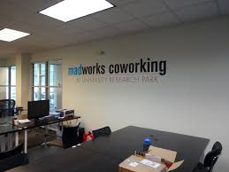 businessoffice interior signage madison sign lettering vinyl wall graphic modern office design ideas office advertising office interior design