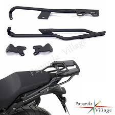 <b>Papanda Motorcycle Black</b> Steel Rear Luggage Rack Carrier ...