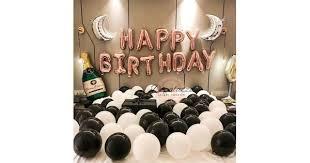 <b>Rose Gold</b> Happy Birthday Balloon Party Deco <b>Rose Gold</b> Black ...