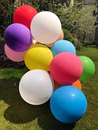 GuassLee 10pcs <b>Big</b> Balloon <b>36 Inch</b> Round <b>Latex Giant</b> Balloon ...