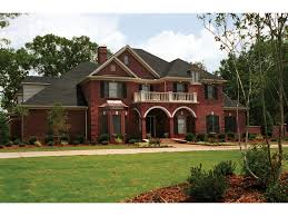 Farris Manor Luxury Home Plan S    House Plans and MoreLuxury Traditional Two Story With All Brick Exterior