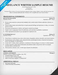 Resume Examples  Freelance Writer Sample Resume With Professional Experience As Magazine Freelance Writer And Education     Rufoot Resumes  Esay  and Templates