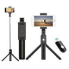 Mobile Phone Holder Stand <b>Tripod</b> Camera with Wireless <b>Bluetooth</b> ...