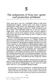 the uniqueness of king lear genre and production problems springer inside