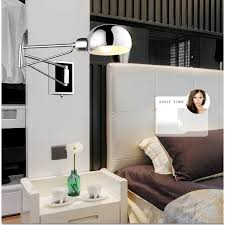 free shipping bedroom modern wall lamp swing arm wall sconce bedside wall lighting reading lights bedroom bedside wall lighting