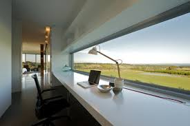 amazing sjb architects white color scheme workspace design with white long desk and beautiful panoramic views beautiful home offices workspaces beautiful