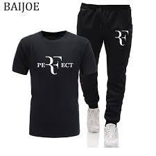 <b>New summer High quality</b> Roger Federer RF Print men T shirt and ...