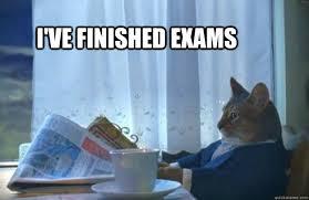 I've Finished Exams - Sophisticated Cat - quickmeme via Relatably.com
