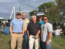 electric line construction students attend pole rescue competition corporate and economic development wendy marlowe ncc instructors jon o boyle and brandon shook and ncc recruiter retention specialist bebe wall