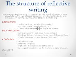 The structure of reflective writing