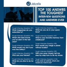 interview questions and answers jobzella interview questions top 100 interview questions and answers from jobzella