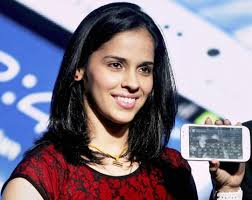 "According to Saina Nehwal: ""I am currently the number 2 in the world holding the number one product!"" Click Play for Slideshow Pause - saina_nehwal_2_main_article_1359010448"